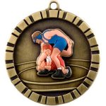 Wrestling 3-D 3-D Series Medal Awards