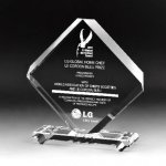 Rhombus Plaque Crystal Award Achievement Awards