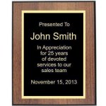Walnut/Black Edge Plaque Achievement Awards
