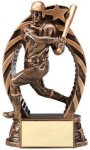 Antique Bronze  and Gold Baseball Male Award Bronze and Gold Star Resin Trophy Awards