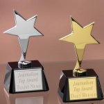 Small Stars with Glass Bases Crystal Glass Awards