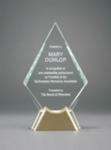 Diamond Glass with  Gold Metal Base Diamond Awards
