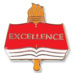 Excellence Lapel Pin Education Trophy Awards
