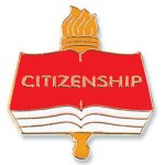 Citizenship Lapel Pin Education Trophy Awards