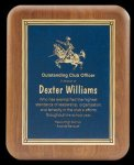 Plaque with Diamond Plate Award Golf Awards