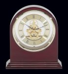 Plymouth Rosewood Piano Finish Desktop Clock Mantle Clocks