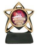 Star Resin Mylar Holder Multi-Activity Mylar Resin Trophy Awards