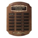 Bronze Framed Perpetual Plaques Religious Awards