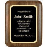Elliptical Solid Walnut Plaque Sales Awards
