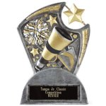 Large Spin Award Cheer Spin Resin Trophy Awards