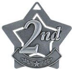 2nd Place Star Silver Star Medal Awards