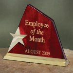 Wood with Star Summit Wood Metal Accent Awards