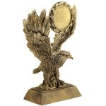 Eagle W/ 2 Ins Holder Resin Wreath Awards